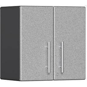 Ulti-MATE Garage 2.0 Ultimate 2-Door Wall Cabinet Silver Metallic