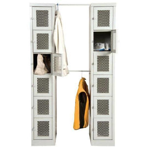 "Parent Metal - Visual locker 12 1/4 x 18 x 72"" with 6 Compartments"