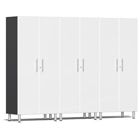 Ulti-MATE Garage 2.0 Ultimate 3-Pc Tall Cabinet Kit White Metallic