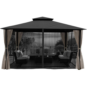 Paragon Outdoor Sedona Gazebo Grey Mosquito Netting GZ584NGK2