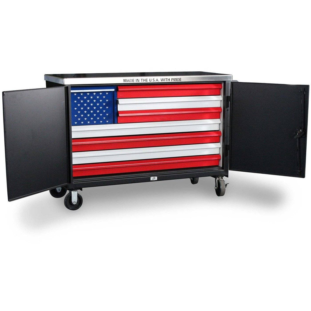 Strong-Hold American Flag Tool Cart TC-15717 Custom box