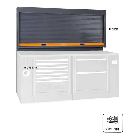 Image of Beta Tools C55 PSP-TOOL PANEL WITH SHUTTER - Garage Tools Storage