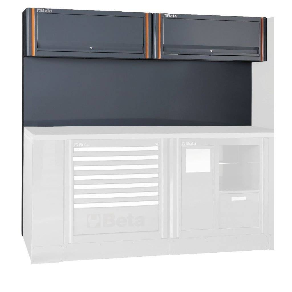 Beta Tools C55 2PM-TOOL PANEL + SUSPENDED CABINETS - Garage Tools Storage