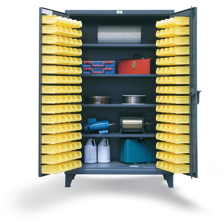 Strong Hold Bin Storage Cabinet w Drawers 36-BBS-241-4DB