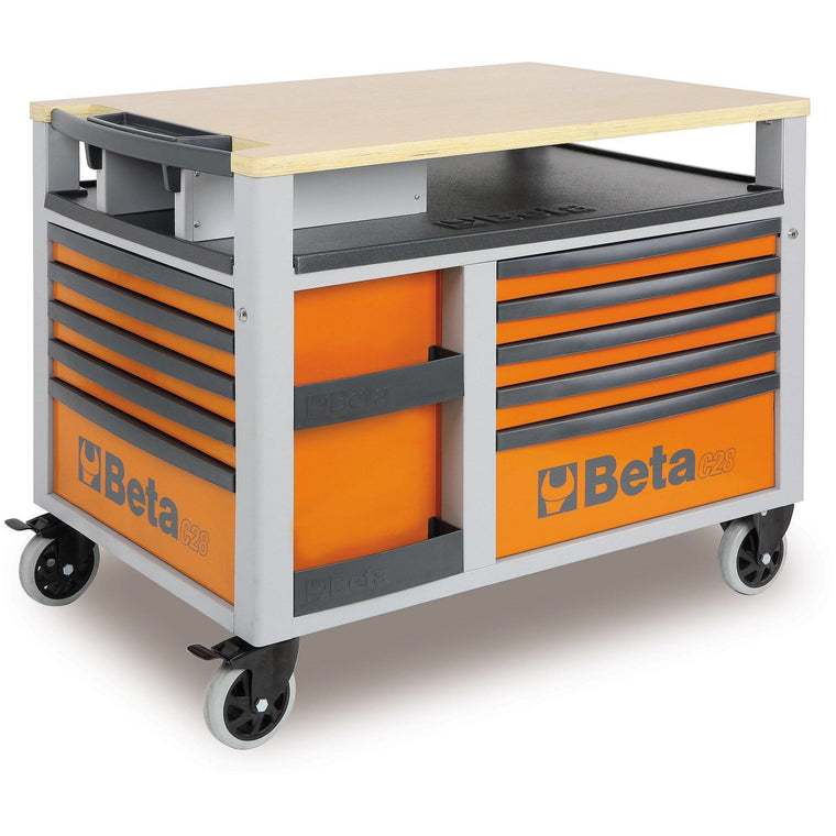 BETA Tools C28 O-SUPERTANK Rolling Tool Chest 10 DRAWER ORANGE