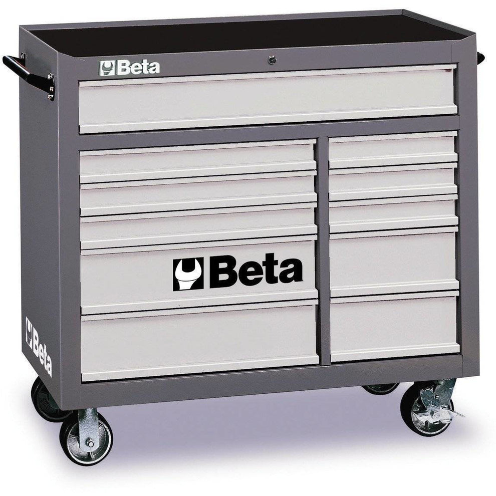 BETA Tools C38R-MOBILE ROLLER CAB 11 DRAWERS Tool Chest - Garage Tools Storage