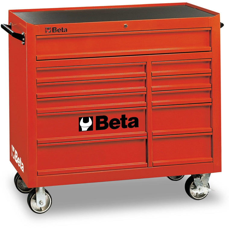 BETA Tools C38R-MOBILE ROLLER CAB 11 DRAWERS RED Tool Chest