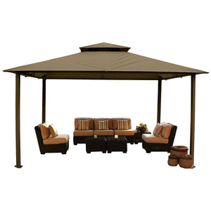 Paragon Kingsbury Gazebo w/ Cocoa Top & Mosquito Netting GZ584NCK