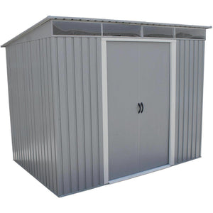 Duramax 8' x 6' Pent Roof with Skylight Light Gray 50371 - Garage Tools Storage