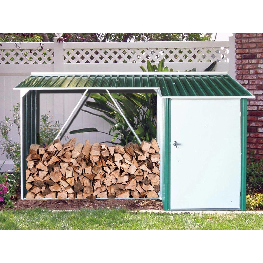 Duramax WoodStore Combo Green with Off White Trim 53661 - Garage Tools Storage