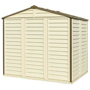 Duramax 8' x 6' StoreAll Vinyl Shed with Foundation 30115 - Garage Tools Storage
