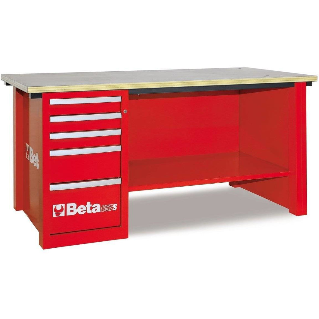 Beta Tools C57S D/R-MASTERCARGO WORKBENCH RED - Garage Tools Storage
