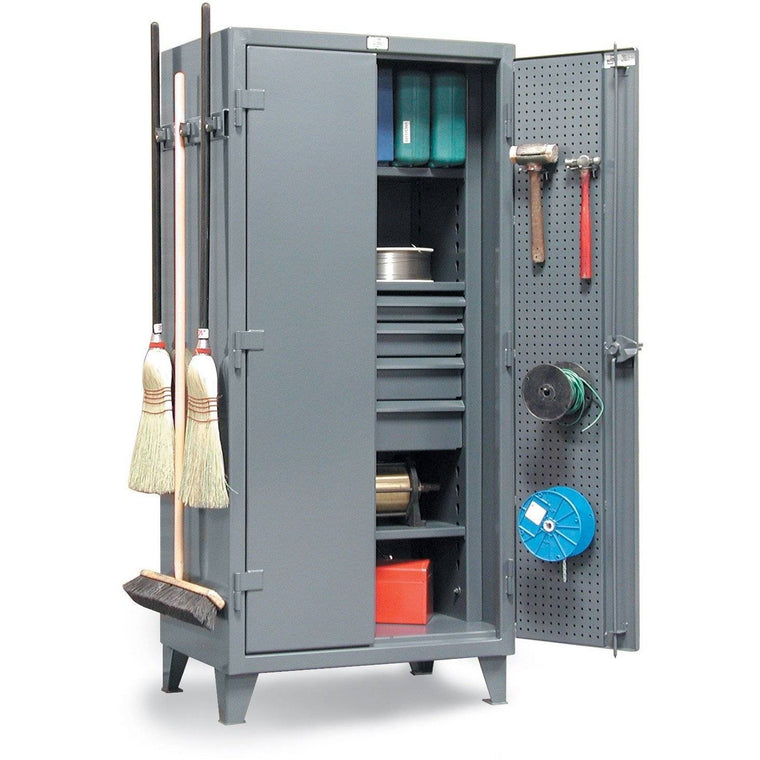 Strong Hold Janitor Supply Storage Cabinet 36-PB-243-4DB/BH