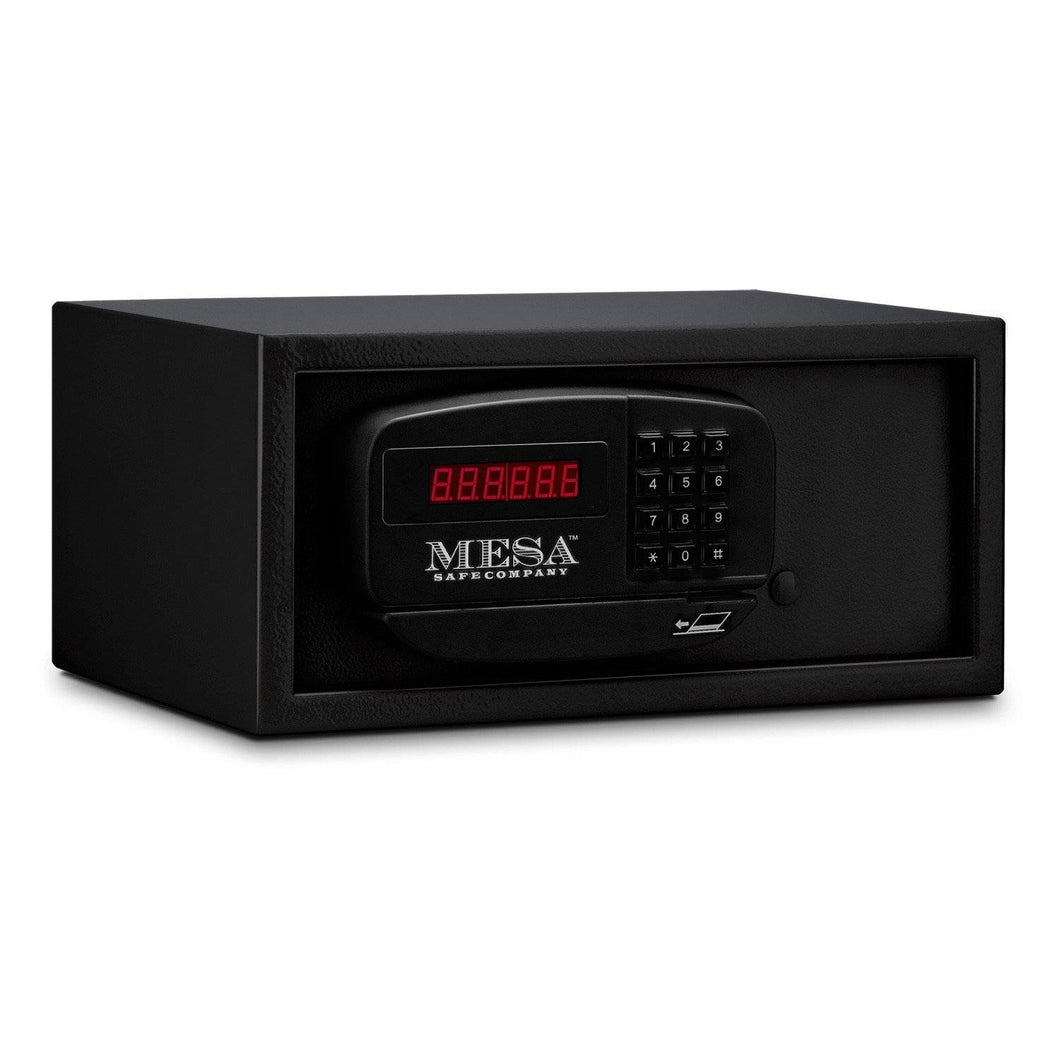 MESA Safes Hotel Safe 0.4 cu. ft. w/ Card Swipe,Black MH101E-BLK