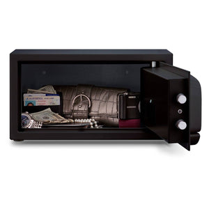 MESA Safes Hotel Safe 0.4 cu. ft. w/ Electronic Lock,Black MH101E-BLK-KA