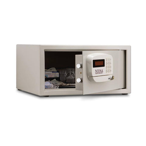 Image of MESA Safes Hotel Safe w/ Card Swipe,White,Electronic Lock MHRC916E-WHT-KA