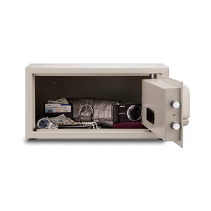 MESA Safes Hotel Safe 1.2 cu.ft. w/ Card Swipe,White MHRC916E-WHT