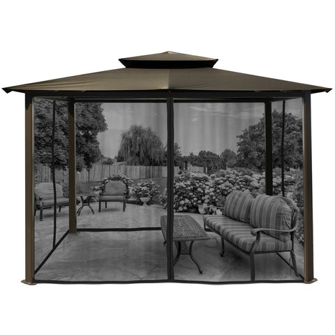 Paragon Barcelona Gazebo w/ Grey Roof & Mosquito Netting GZ584EGK