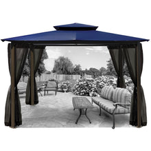 Paragon Barcelona Gazebo w/ Navy Roof & Mosquito Netting GZ584ENK