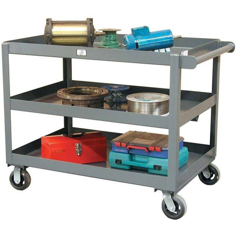 "Strong Hold ""All-Welded Heavy Duty Service Cart with (3)  Shelves SC2436-2"