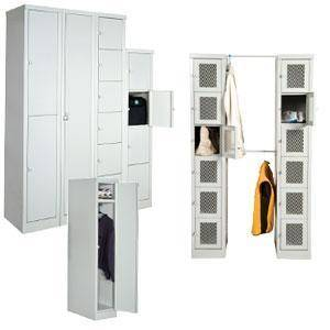 "Parent Metal - Set-up Locker 12-1/4 x 18 x 72"" with 6 Compartments"
