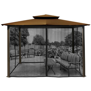 Paragon Barcelona Gazebo w/ Cocoa Roof & Mosquito Netting GZ584ECK