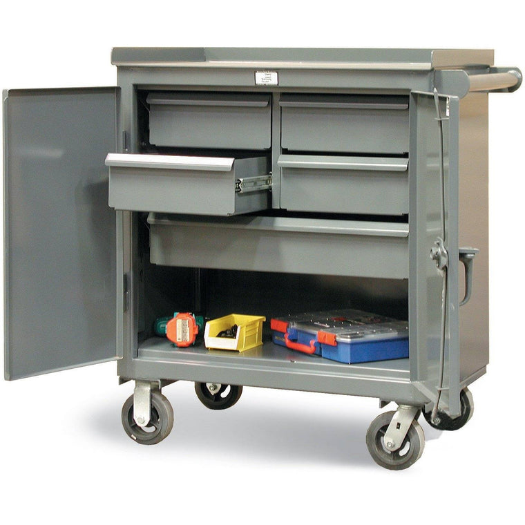 Strong Hold Welded Heavy Duty Tool Cart with 7 Gauge Top  3-TC-240-4/5-1DB
