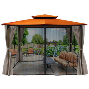 Paragon Barcelona Gazebo Rust Color Top Curtain Mosquito Net GZ584ERK2