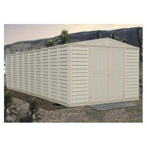 Duramax Vinyl Garage 10.5' x 25.5' includes Foundation Kit 01416 - Garage Tools Storage