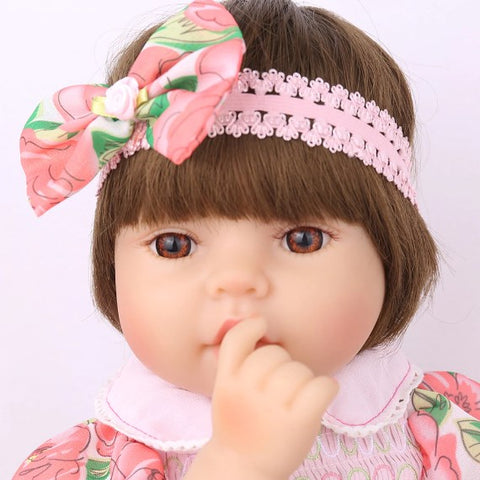48 CM Flower Dress Reborn Silicone Doll