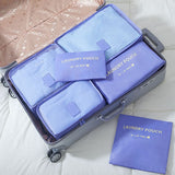 6 Pieces Travel Storage Bag Organizer