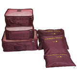 Buy 6 Pieces Travel Storage Bag Organizer