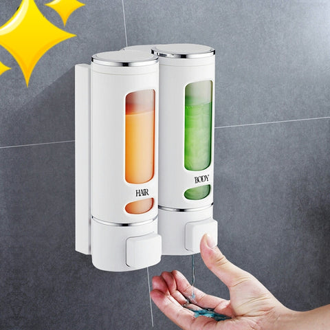 Wall Mounted Shower Gel & Soap Dispenser