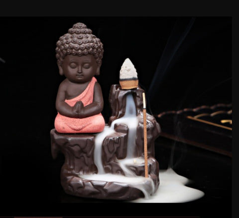 Little Monk Back Flow Incense Burner