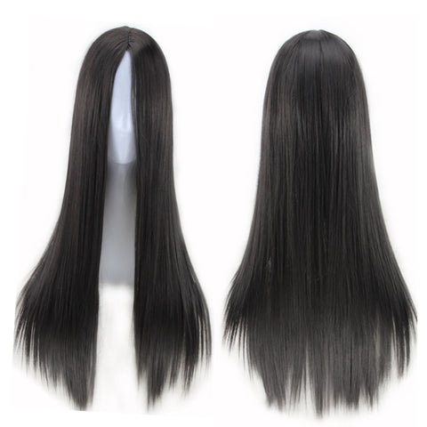 70 CM Long Straight Synthetic Hair Wig