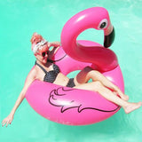 Inflatable Flamingo Swimming Pool Ring