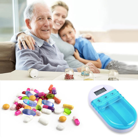 Portable Pill Box with Alarm / Timer