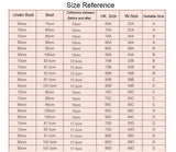 Silicone Self-Adhesive Strapless Bra Size Chart