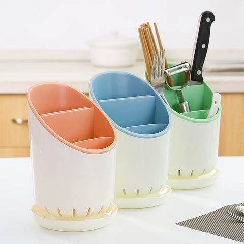 Kitchen Utensil Holder With Drainer