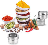 Buy Magnetic Stainless Steel Seasoning Spice Jar Set