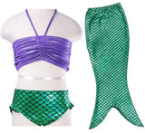 Baby Girls Mermaid Tail Swimsuit Costume Bikini Set Dress for 3-10Y