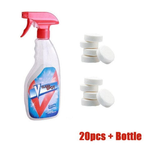 Multi Functional Effervescent Spray Cleaner Set With 1 Spray Bottle - All Purpose Home Cleaning Effervescent Spray Cleaner