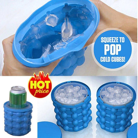 Silicone Ice Cube Bucket