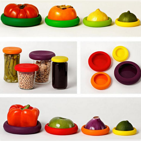 Food Huggers Reusable Silicone Food Covers