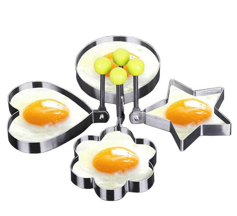 Stainless Steel Egg Mold, 4 Pieces Set