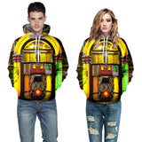 Men Women Rock & Roll Juke Box Hoodies