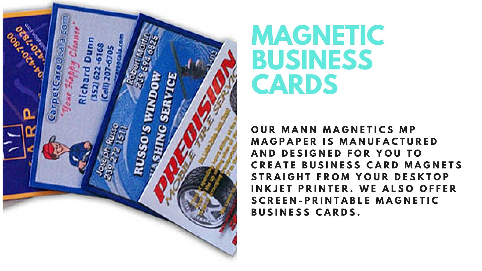 magnetic business cards mann magnetic materials