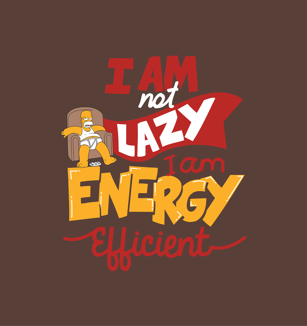 Unisex Chestnut Brown Organic T-Shirt-I am Not Lazy