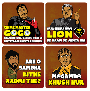 Bollywood Villain Coasters