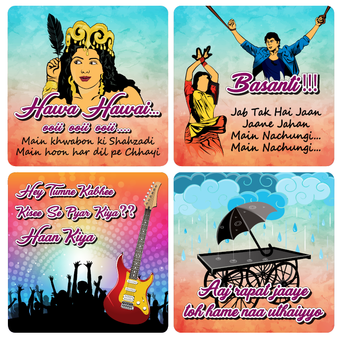 Bollywood Songs Coasters